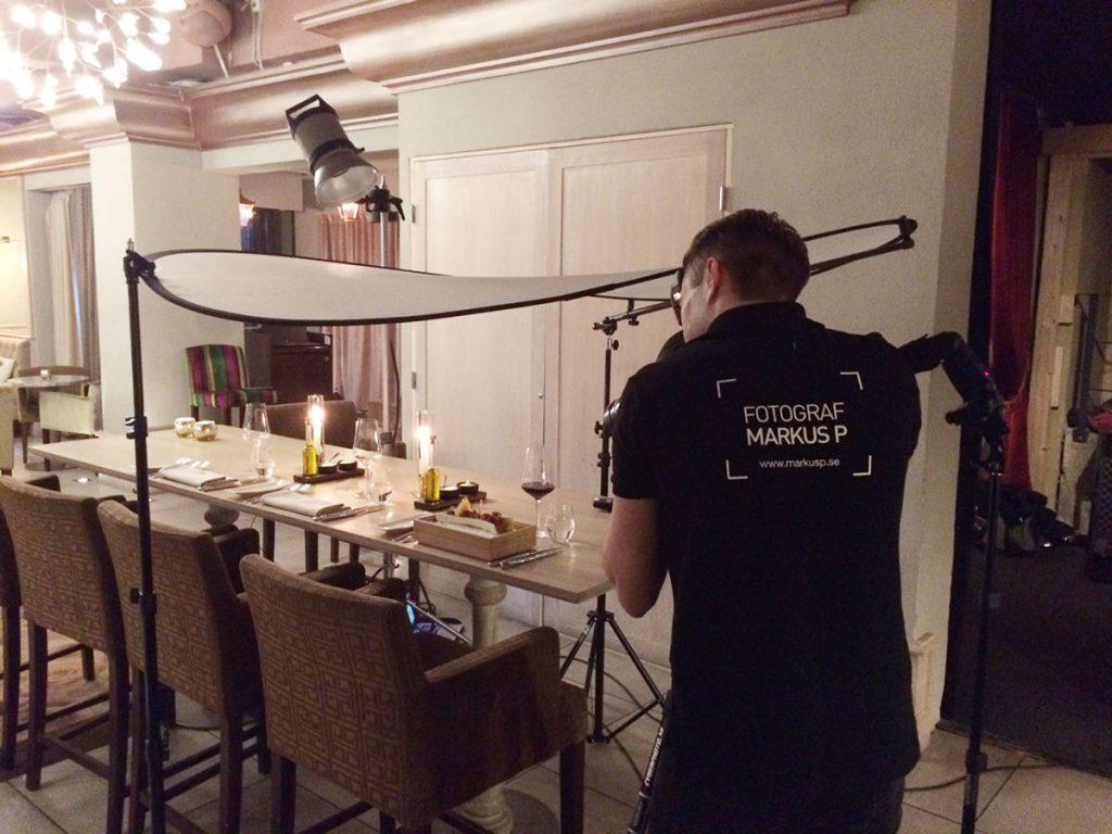 Ljussättning för matfotografering on location, Makeriet Örebro